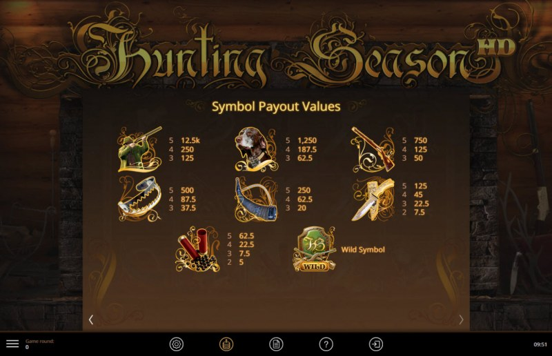 Hunting Season :: Paytable