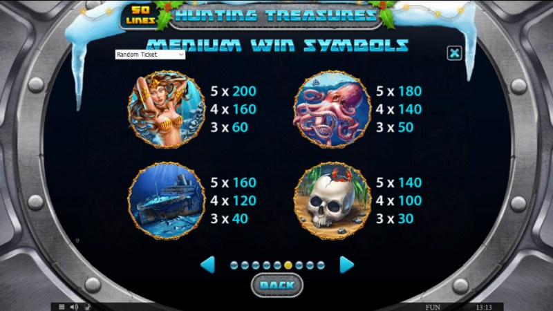 Hunting Treasures Christmas Edition :: Paytable - High Value Symbols