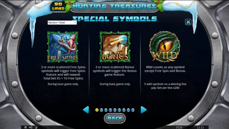 Hunting Treasures Christmas Edition :: Wild and Scatter Rules