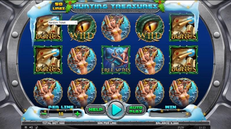Hunting Treasures Christmas Edition :: Main Game Board