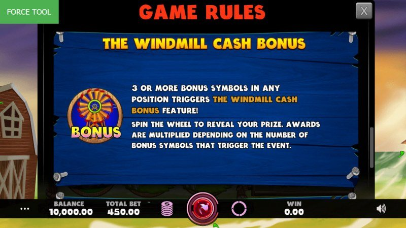 Hurricash :: The Windmill Cash Bonus