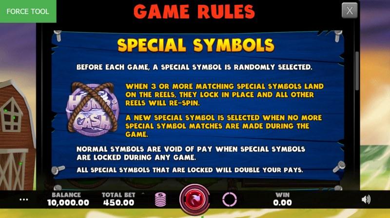Hurricash :: Special Symbols