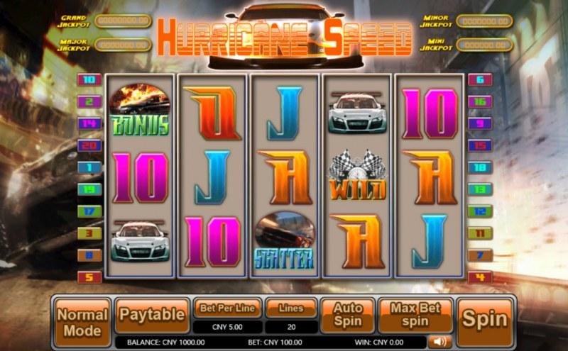 Hurricane Speed :: Main Game Board