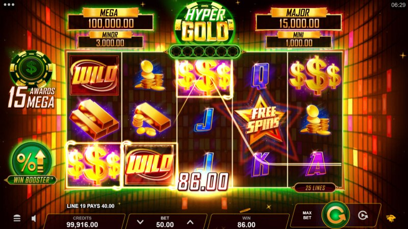 Hyper Gold Link & Win :: A three of a kind win