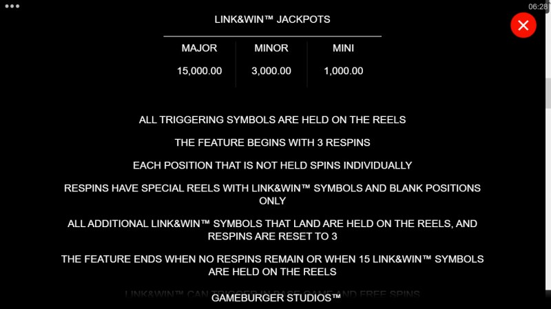 Hyper Gold Link & Win :: Feature Rules
