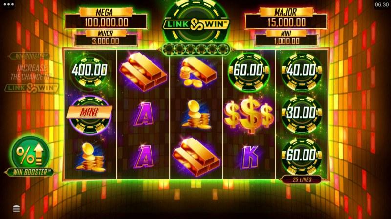 Hyper Gold Link & Win :: Scatter symbols triggers the Link & WIn bonus feature