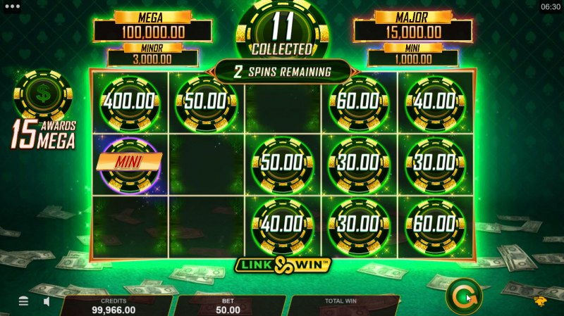 Hyper Gold Link & Win :: Spin the reels and land as money coin symbols to win big