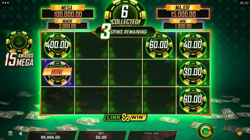 Hyper Gold Link & Win :: Bonus game board