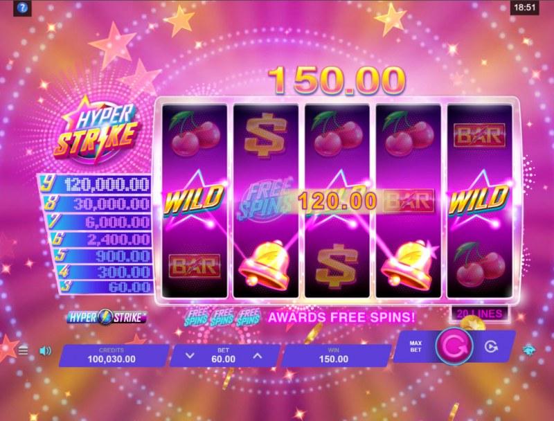 Hyper Strike :: A five of a kind win