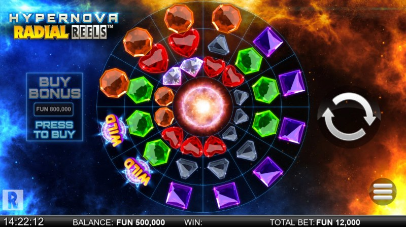 Hypernova Radial Reels :: Main Game Board