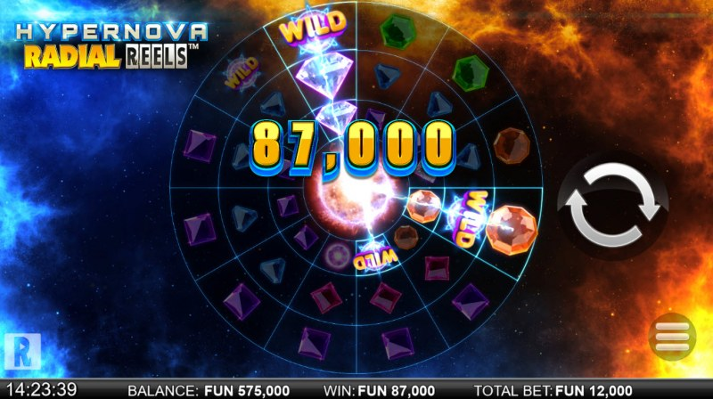 Hypernova Radial Reels :: Multiple winning paylines