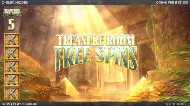 Hidden :: Treasure Room Free Spins Activated