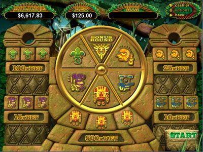Mega 7's featuring the Video Slots Hidden Riches with a maximum payout of $250,000