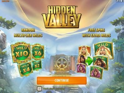 Powerspins featuring the Video Slots Hidden Valley with a maximum payout of $9,000
