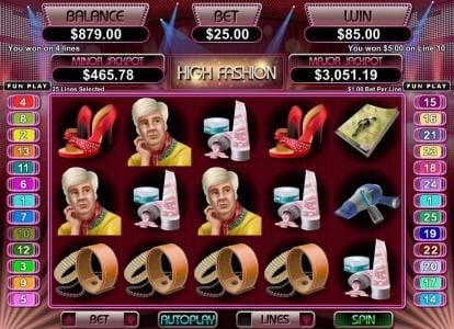 iNET Bet featuring the Video Slots High Fashion with a maximum payout of $250,000