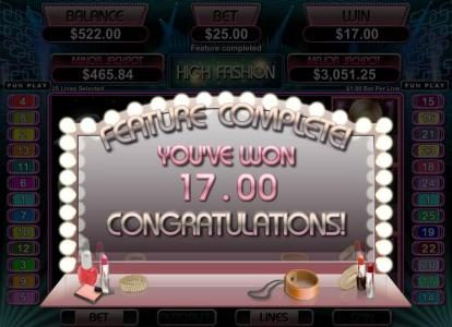 99 Slot Machines featuring the Video Slots High Fashion with a maximum payout of $250,000