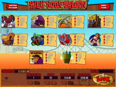Play slots at Mission 2 Game: Mission 2 Game featuring the Video Slots High Noon Saloon with a maximum payout of Jackpot