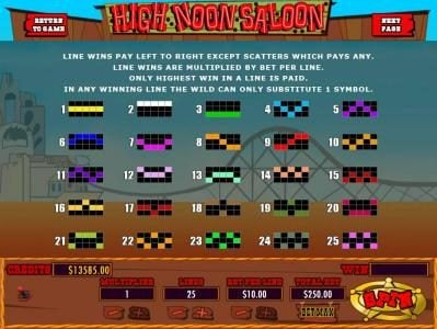 Mission 2 Game featuring the Video Slots High Noon Saloon with a maximum payout of Jackpot
