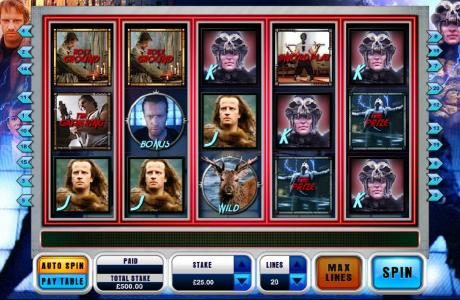 Play slots at Gorilla: Gorilla featuring the Video Slots Highlander with a maximum payout of $6,250