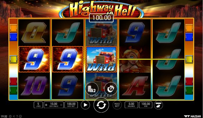 Highway to Hell :: Multiple winning paylines