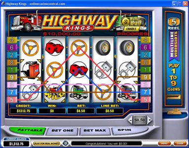 Magic Box featuring the Video Slots Highway Kings with a maximum payout of $50,000