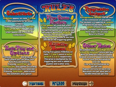Slots Plus featuring the Video Slots Hillbillies with a maximum payout of $250,000