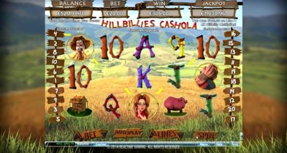 Titan featuring the Video Slots Hillbillies Cashola with a maximum payout of $250,000