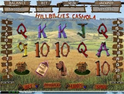 Pure Vegas featuring the Video Slots Hillbillies Cashola with a maximum payout of $250,000