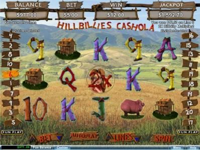 Prism featuring the Video Slots Hillbillies Cashola with a maximum payout of $250,000