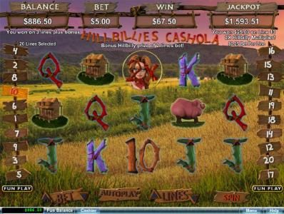 Cherry Red featuring the Video Slots Hillbillies Cashola with a maximum payout of $250,000
