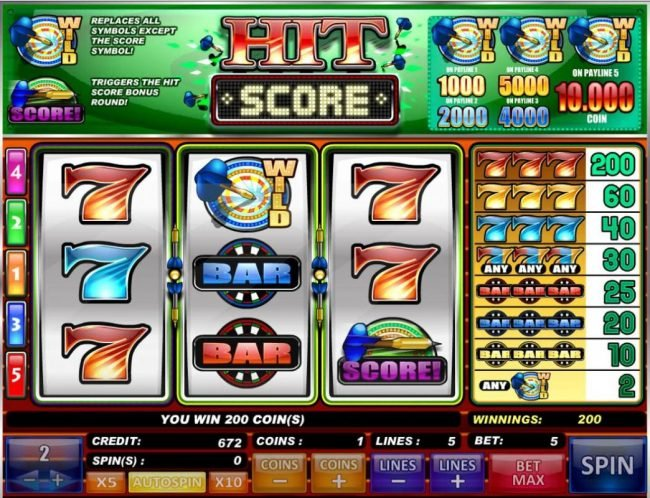 Play slots at Casdep: Casdep featuring the Video Slots Hit Score with a maximum payout of $20,000