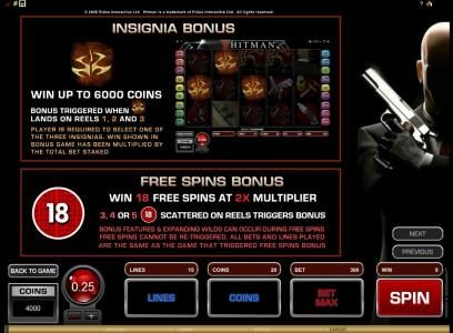 Jackpot Knights featuring the Video Slots Hitman with a maximum payout of $20,000