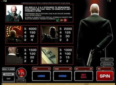 Blackjack Ballroom featuring the Video Slots Hitman with a maximum payout of $20,000