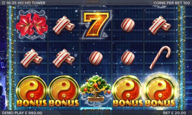 Enzo Casino featuring the Video Slots Ho Ho Tower with a maximum payout of $153,000