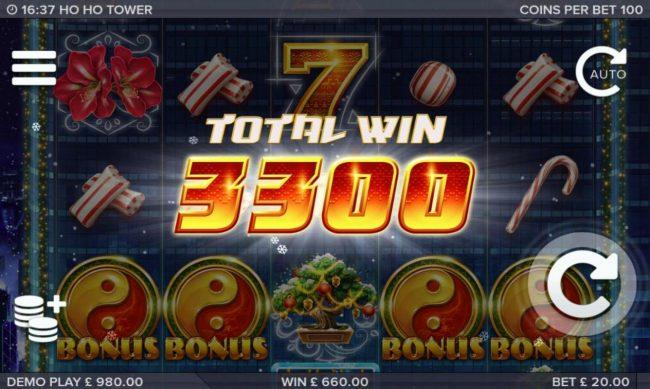 Ho Ho Tower :: Total bonus payout 3300 credits