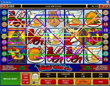 Casino Kingdom featuring the Video Slots Ho Ho Ho with a maximum payout of $75,000