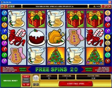 Casino Splendido featuring the Video Slots Ho Ho Ho with a maximum payout of $75,000