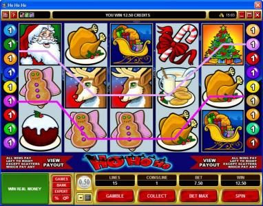 Zodiac featuring the Video Slots Ho Ho Ho with a maximum payout of $75,000
