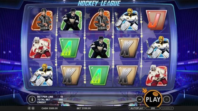 Play slots at Tangiers: Tangiers featuring the Video Slots Hockey League with a maximum payout of $5,000