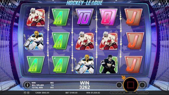 Crystal Casino Club featuring the Video Slots Hockey League with a maximum payout of $5,000
