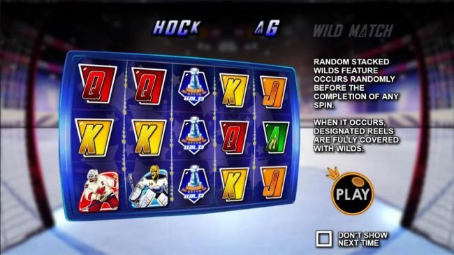 Vive Mon Casino featuring the Video Slots Hockey League Wild Match with a maximum payout of $25,000