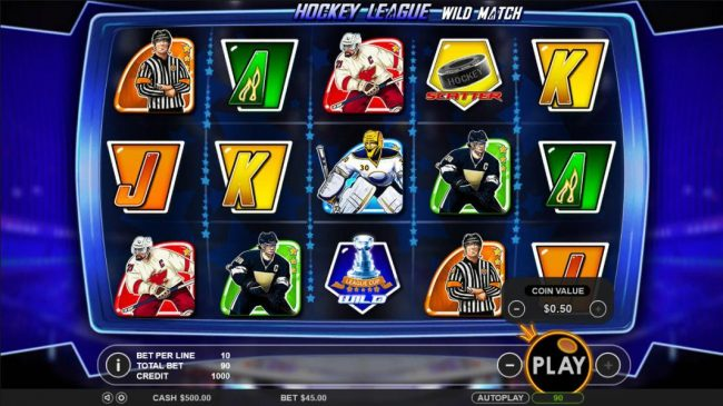 Casino States featuring the Video Slots Hockey League Wild Match with a maximum payout of $25,000