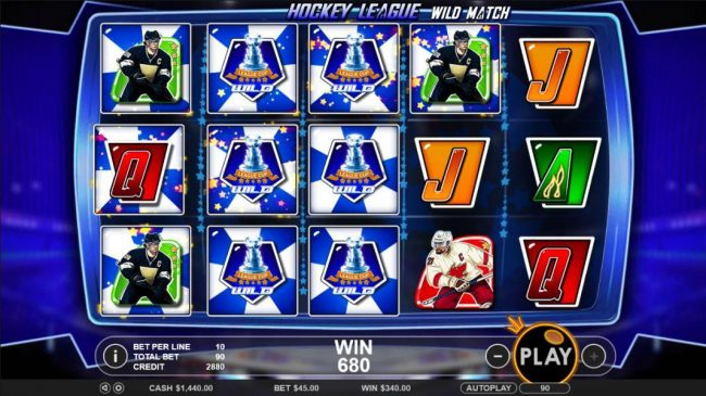 7 Gods Casino featuring the Video Slots Hockey League Wild Match with a maximum payout of $25,000