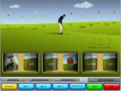 Hole In One :: main game board