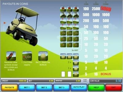 Hole In One :: slot game symbols paytable