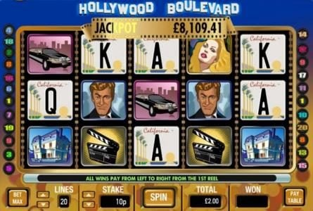 Play slots at Caesars: Caesars featuring the Video Slots Hollywood Boulevard with a maximum payout of $10,000
