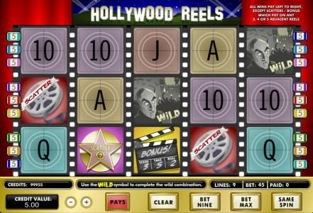 Play slots at Lucky Bets: Lucky Bets featuring the Video Slots Hollywood Reels with a maximum payout of $62,500