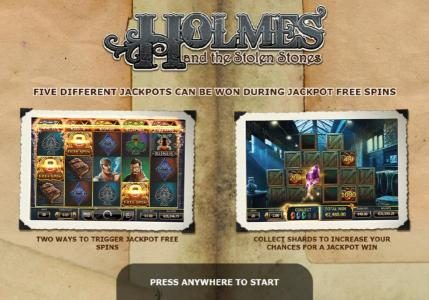 Play slots at Boaboa: Boaboa featuring the Video Slots Holmes and the Stolen Stones with a maximum payout of Jackpot