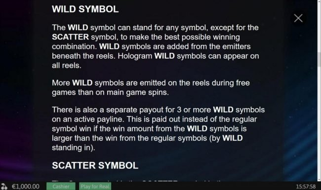 Hologram Wilds :: Wild Symbol Rules