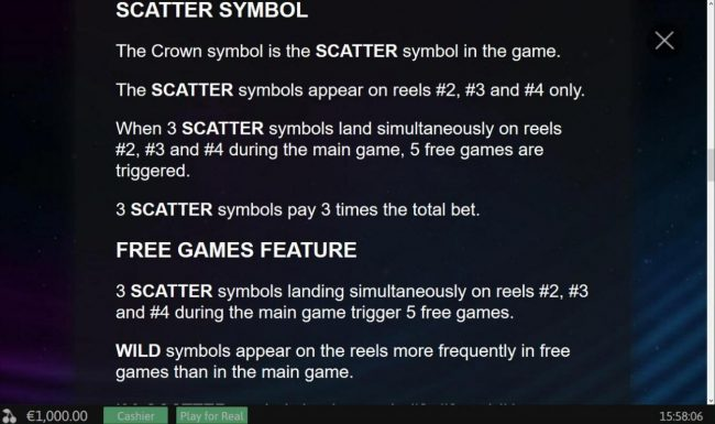 Hologram Wilds :: Scatter Symbol Rules